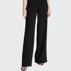 Lafayette 148 black wool blend wide leg trouser- size 10